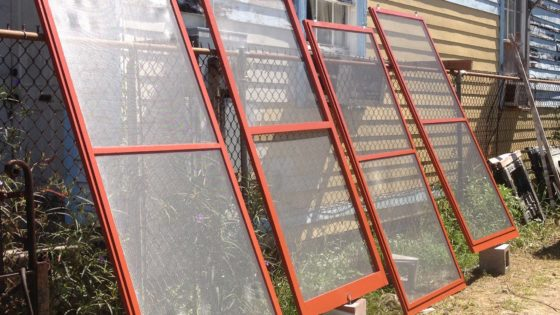 Newly Assembled Screens Drying