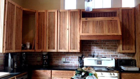 Installed Beadboard Cabinets