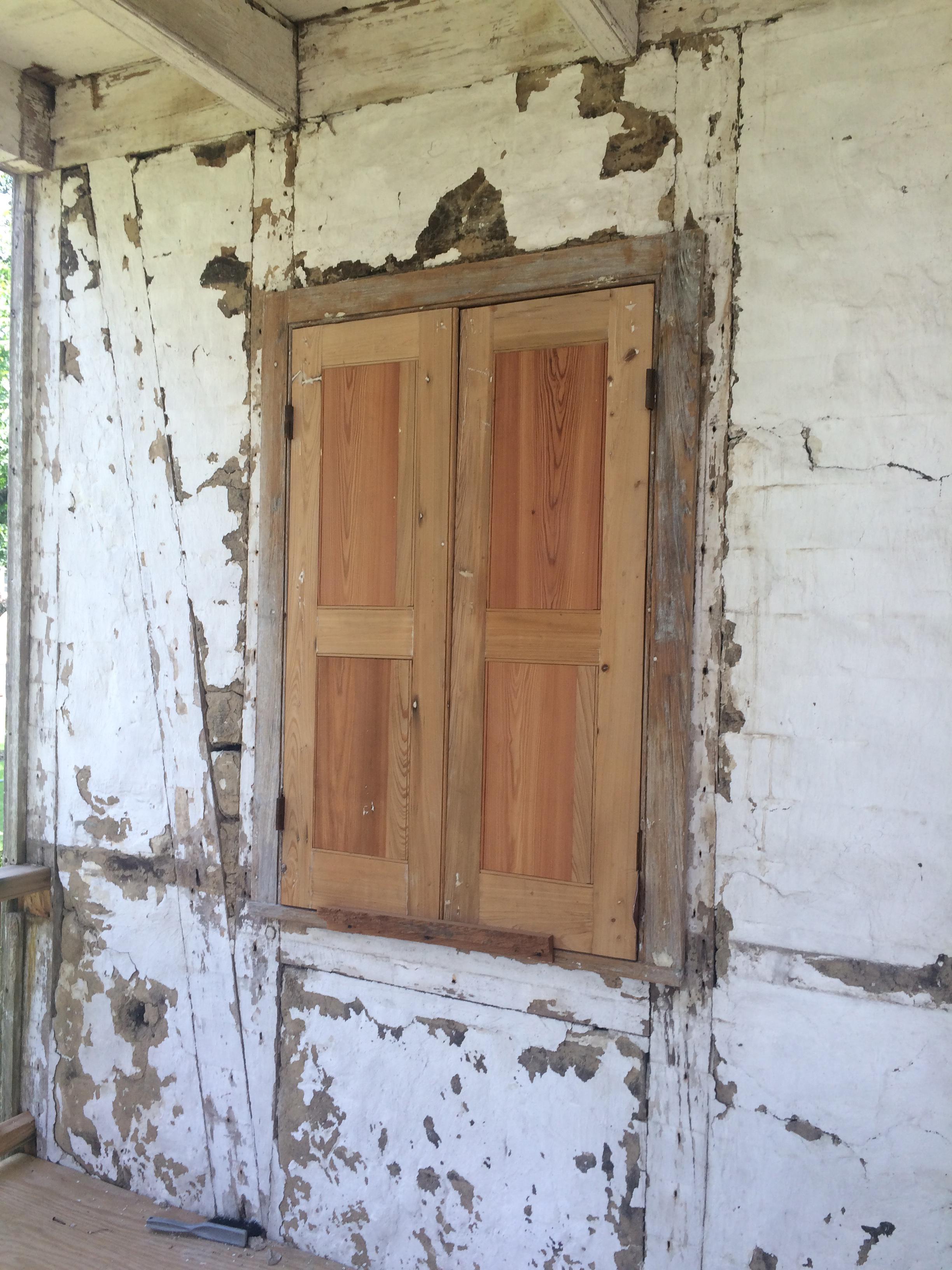 Unfinished Furniture Baton Rouge La #17: Installed, Unpainted Custom Built Panel Shutters